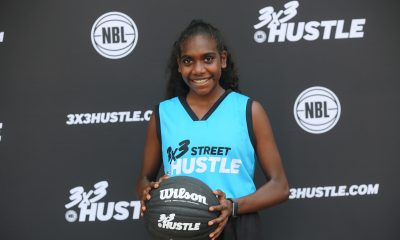 CJ poses in her 3x3 Street Hustle gear